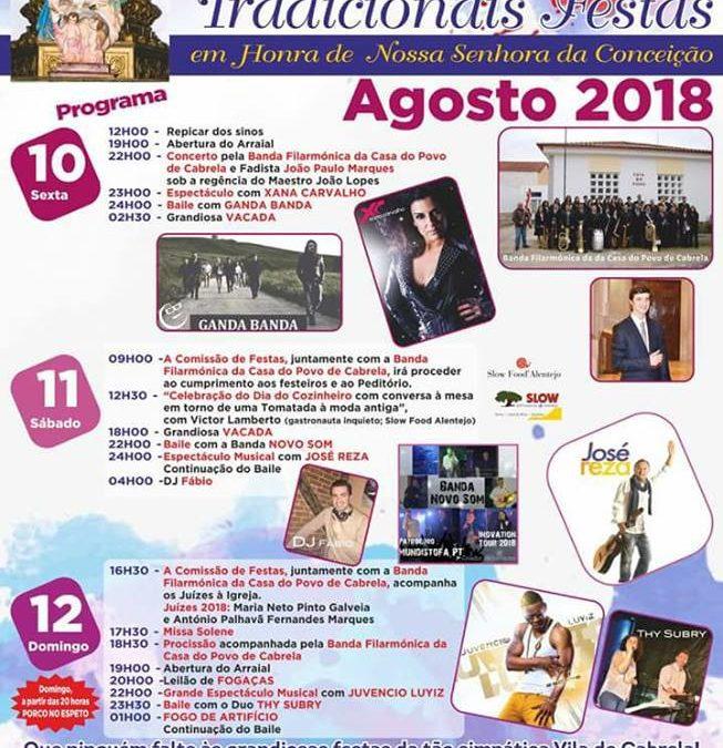 Tradicionais Festas em Honra de Nossa Senhora da Conceição 2018